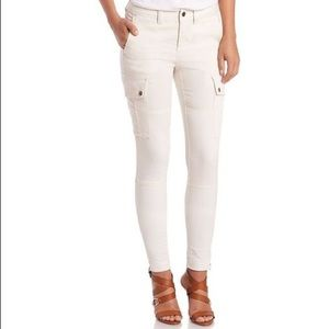 Ralph Lauren ivory cream cargo skinny Jeans pants